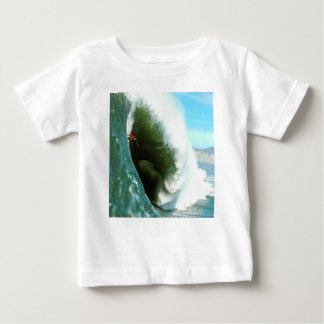 Big Steep Surfing Wave Baby T-Shirt