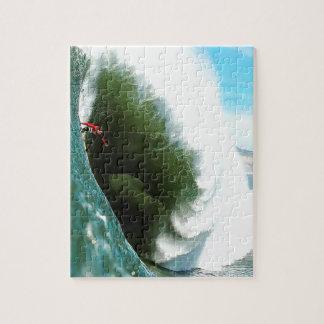 Big Steep Surfing Wave Jigsaw Puzzle