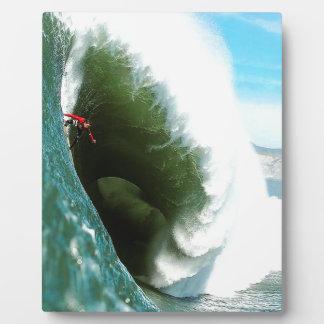 Big Steep Surfing Wave Photo Plaque