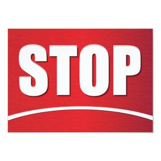 Big Stop Sign Invitations