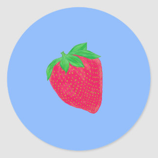 Big strawberry classic round sticker