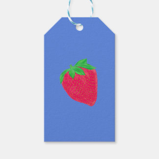 Big strawberry gift tags