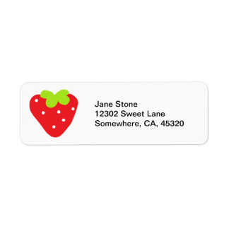Big Strawberry Return Address Label