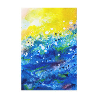 Big Sun, Big Surf Canvas Print