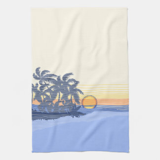 Big Sunset Hawaiian Kitchen Towel