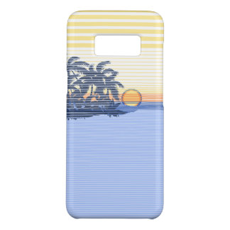Big Sunset Stripe Hawaiian Surfer - Blue Case-Mate Samsung Galaxy S8 Case