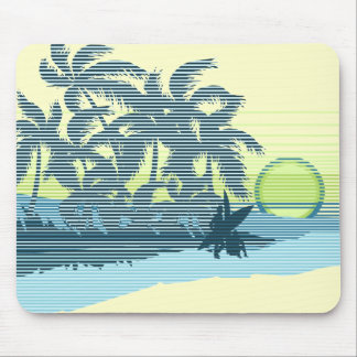 Big Sunset Teal Mousepad