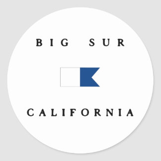 Big Sur California Alpha Dive Flag Classic Round Sticker
