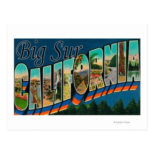 Big Sur, California - Large Letter Scenes Postcards