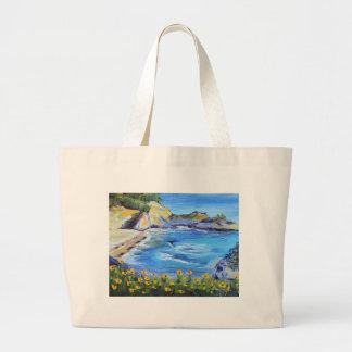 Big Sur California Large Tote Bag