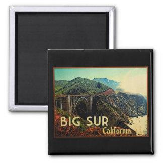 Big Sur California Vintage Refrigerator Magnet