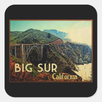 Big Sur California Vintage Square Sticker