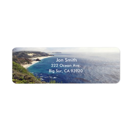 Big Sur Return Address Label