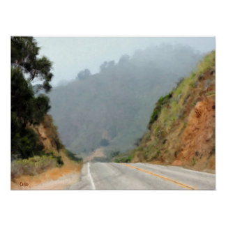Big Sur Road Poster
