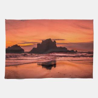 Big Sur Sunset Tea Towel