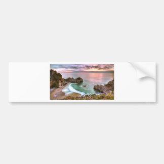 Big Sur Waterfall Sunset Bumper Sticker