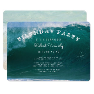 Big Surf Surprise Birthday Party Invitation