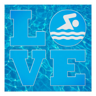 Big Swim LOVE Pool Poster for Swimmers & Coaches