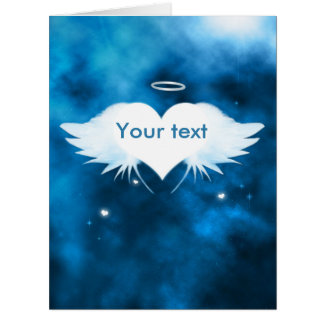 "Big Sympathy Card 8.5"" x 11"" - Angel of the Heart"