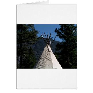 Big Teepee in Western Canada Card