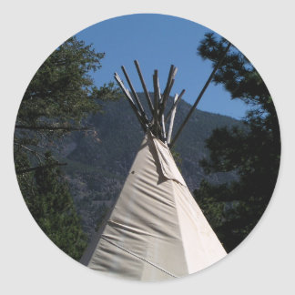 Big Teepee in Western Canada Classic Round Sticker