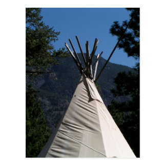 Big Teepee in Western Canada Postcard