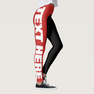 Big Text Customisable/Personalise Leggings