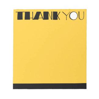 Big Thank You black Notepad