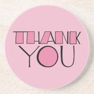 Big Thank You pink Coaster