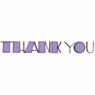 Big Thank You purple Sculpture Standing Photo Sculpture