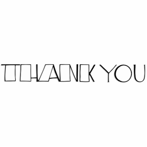 Big Thank You white Sculpture Photo Cut Outs