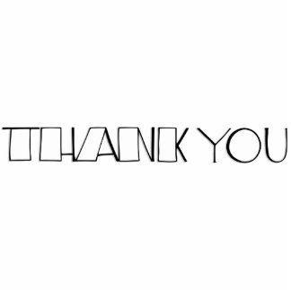 Big Thank You white Sculpture Standing Photo Sculpture