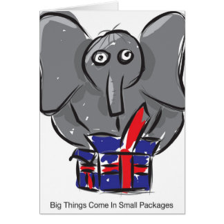 Big Things Come In Small Packages Greeting Card