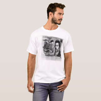 Big Thumbs Up For Money, Mens White T-shirt