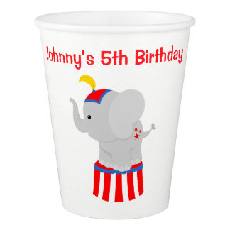Big Top Circus Carnival Birthday in Red Paper Cup