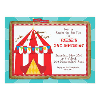 Big Top Circus Invitation