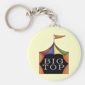 Big Top Circus Tent Basic Round Button Key Ring
