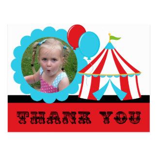 Big Top Circus Thank You Postcard