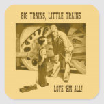 Big Trains, Little Trains Love 'Em All Sticker