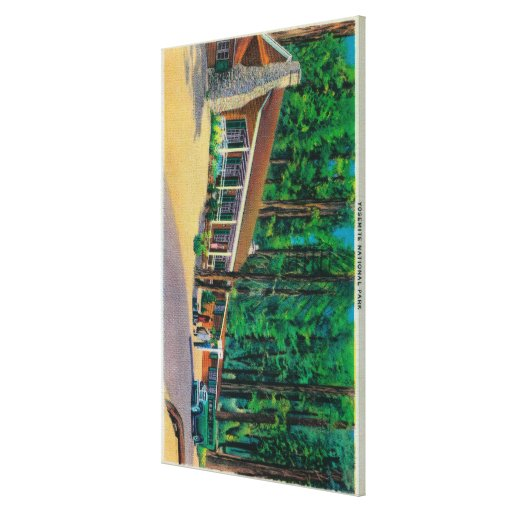 Big Trees Lodge in The Mariposa Grove Stretched Canvas Print