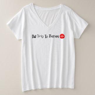 Big Trip To Japan Women's Plus-Size V-Neck T-Shirt