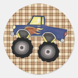 Big Truck Flash 4 Wheeler Fun Stickers Seals