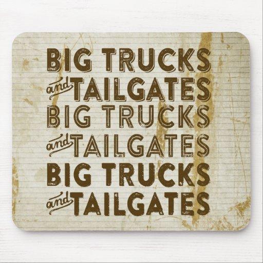 Big Trucks and Tailgates Mousepads