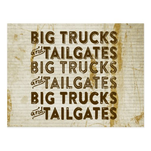 Big Trucks and Tailgates Postcards