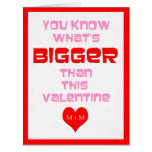 Big Valentines Day Cards Personalised