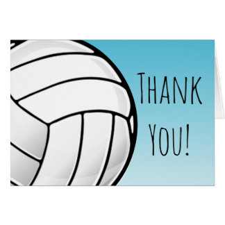 Big Volleyball Ball Custom Thank You Card