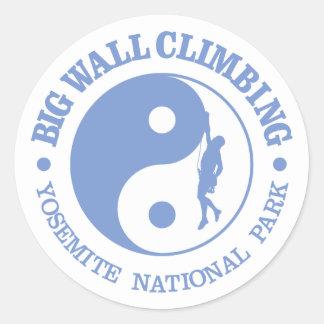 Big Wall Climbing (Yosemite) Round Sticker