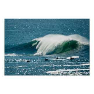 Big wave at Mavricks Poster