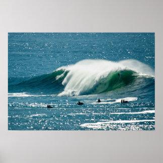 Big wave at Mavricks Poster