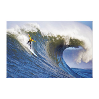 Big Wave at the Mavericks Surfing Competition Stretched Canvas Prints